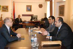 Նախարարն ընդունել է Հայաստանում իր առաքելությունն ավարտող ԵԽ գրասենյակի ղեկավարին