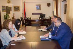 Արդարադատության նախարարն ընդունել է Հայաստանում Եվրոպայի խորհրդի գրասենյակի ղեկավարին
